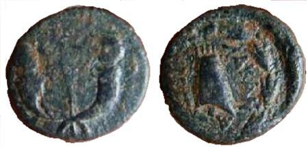 Antiochus IV & Iotape - AE 4 Chalkoi - Kovacs-247
